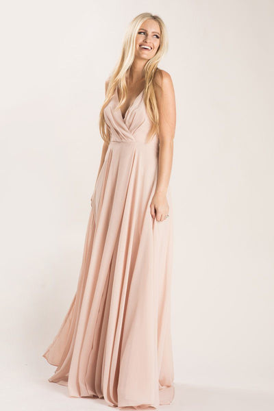 Petite Cassidy Blush Flowy Maxi Dress Dresses Maniju Blush XSP