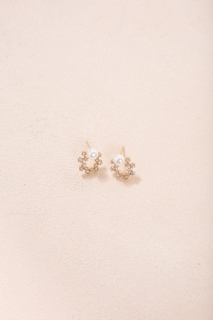 Alicia Mini Crystal Wreath Earrings Earrings Joia Crystal