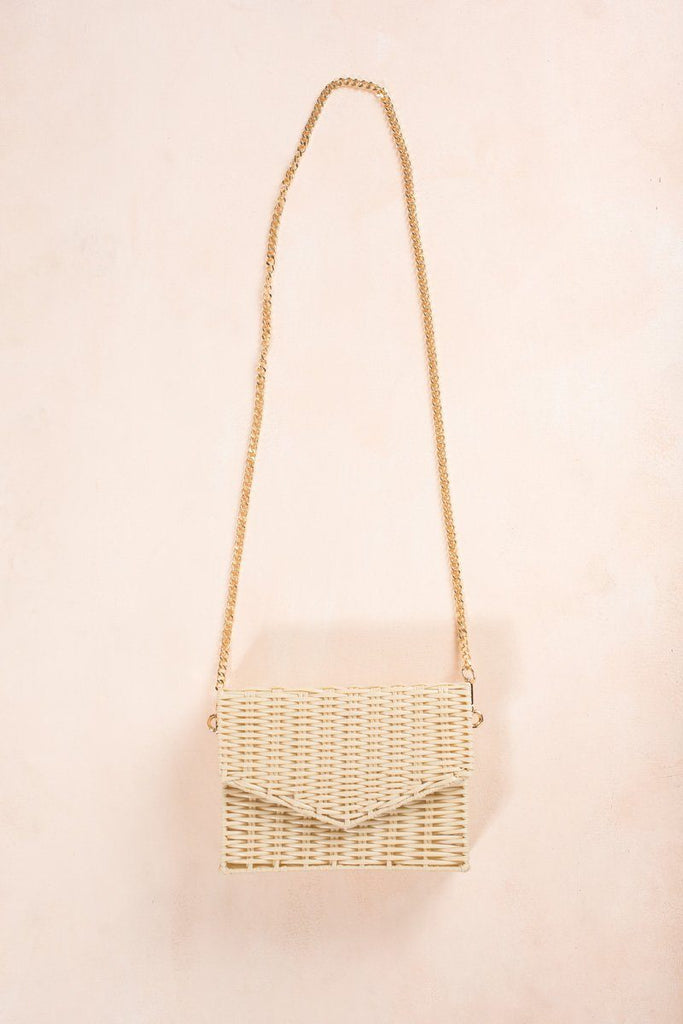 Eliza Straw Envelope Crossbody Bag Handbags Fame Straw