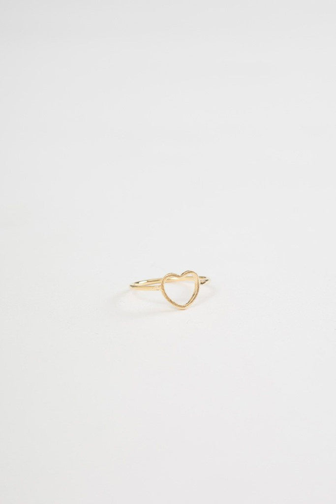 Annie Gold Heart Ring Rings FAME