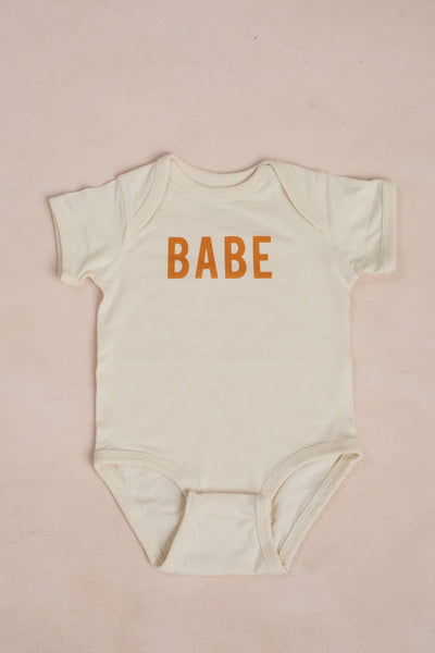 Babe Infant Onesie Kids Polished Prints Brown 6M