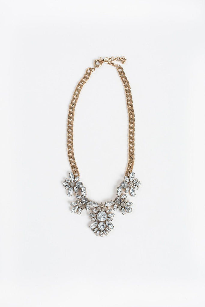 Cynthia Crystal Statement Necklace