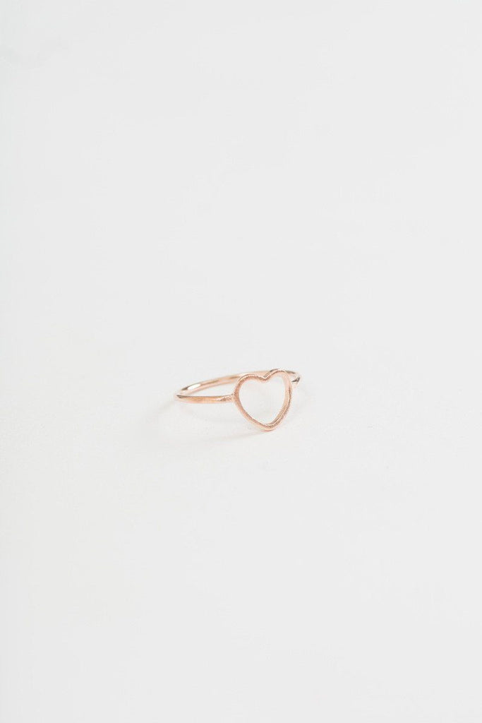 Annie Rose Gold Heart Ring