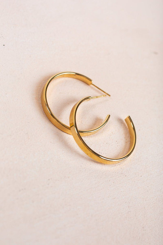 Callie Gold Hoop Earrings Earrings Ana