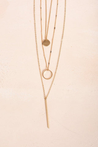Margaret Gold Layered Necklace Necklaces Ana