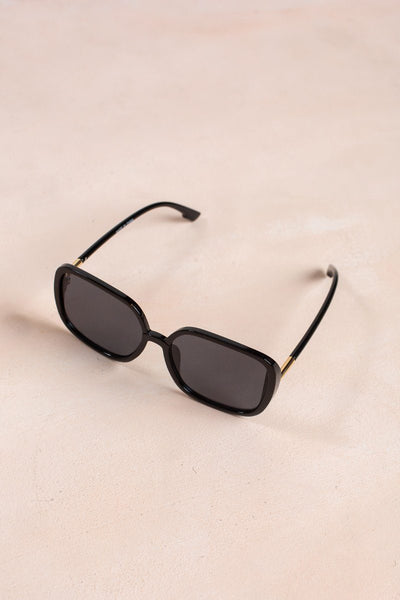 Mia Square Oversized Sunglasses Sunglasses Ana Black