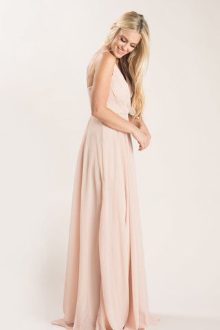 Petite Cassidy Blush Flowy Maxi Dress Dresses Maniju