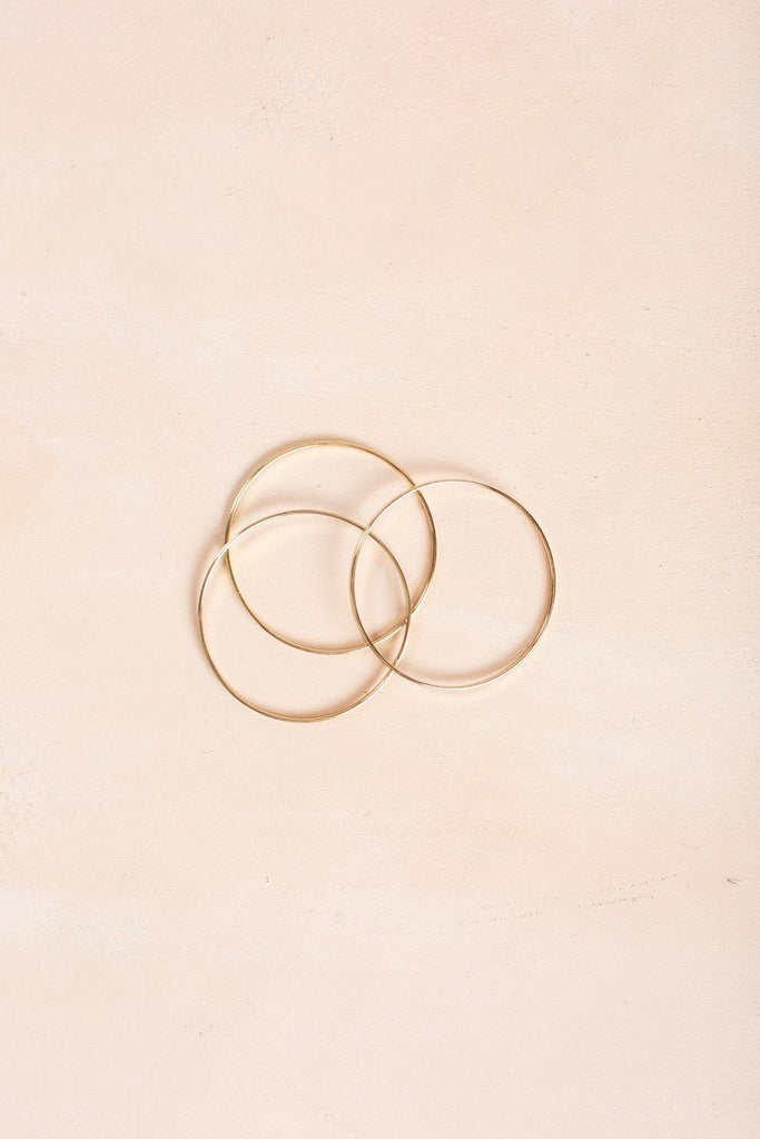 Brianna Gold Bangle Set Bracelets Fame Gold