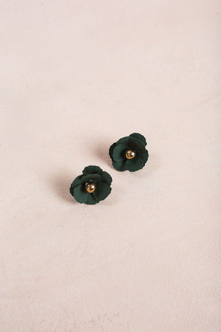 Sloane Olive Flower Earrings