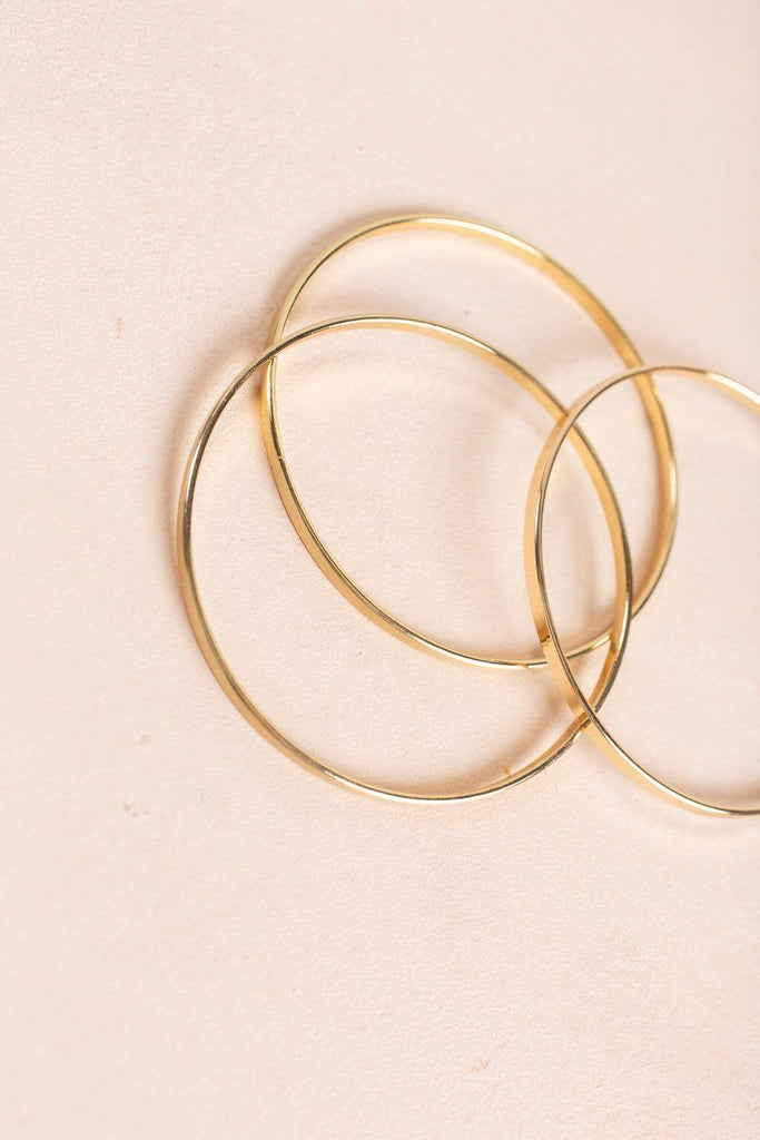 Brianna Gold Bangle Set Bracelets Fame