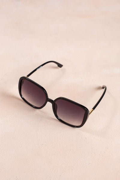Mia Square Oversized Sunglasses Sunglasses Ana Black Gradient