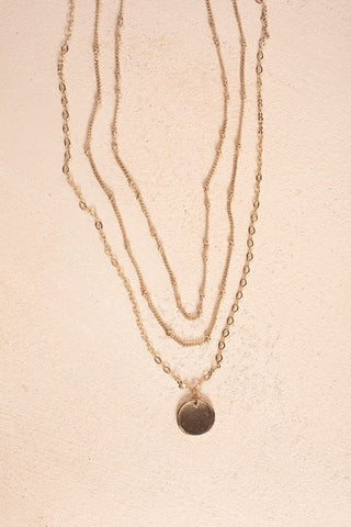 Cameron Gold Layered Coin Necklace Necklaces Ana