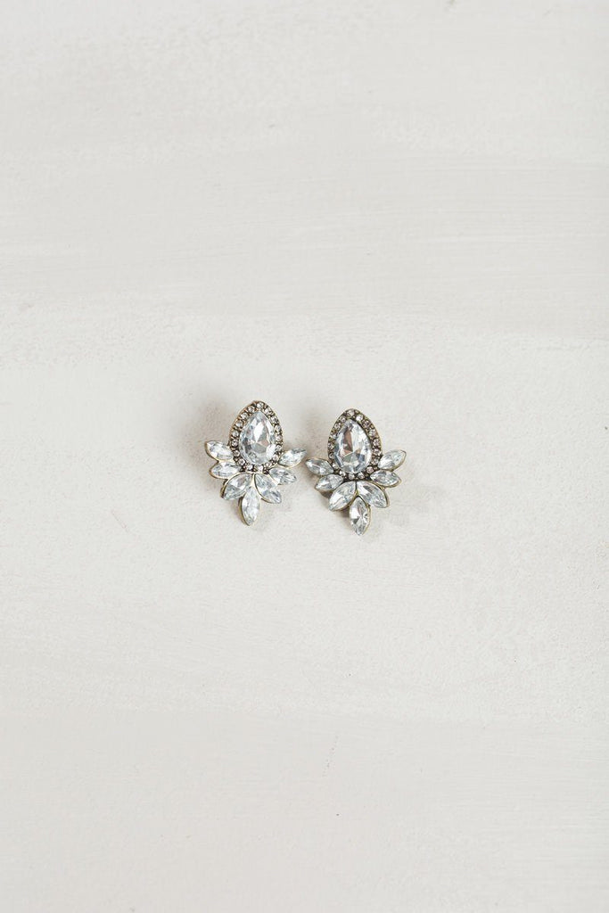 Christine Crystal Statement Earrings Earrings Ana Crystal