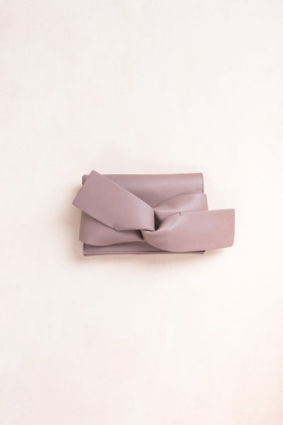 Chantel Knotted Clutch Handbags Joia Mauve