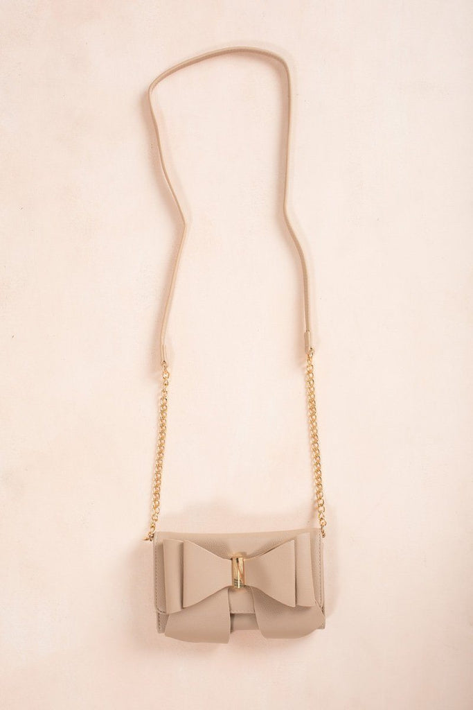 Sophia Bow Wallet Crossbody Handbags Joia Beige