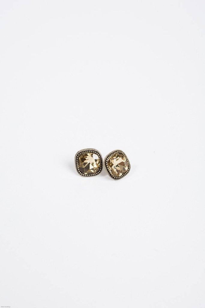 Erin Gold Cushion Cut Earrings