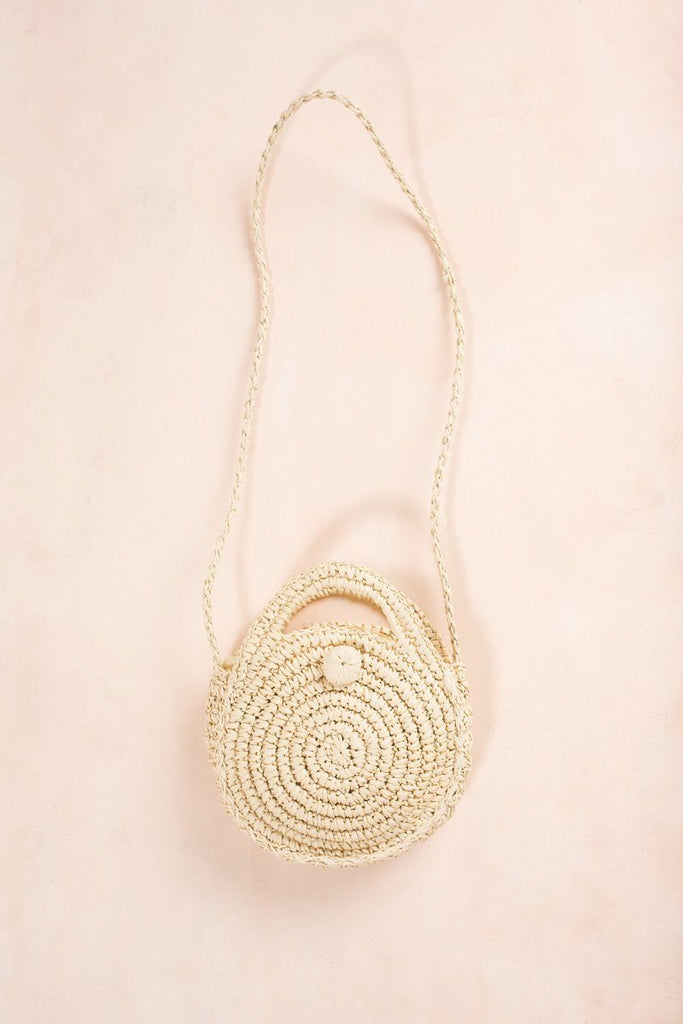 Katy Light Straw Rattan Handbag Handbags AKAIV Straw