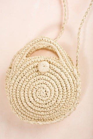Katy Light Straw Rattan Handbag Handbags AKAIV