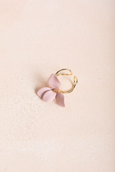 Danica Flower Ring Rings Fame Pink