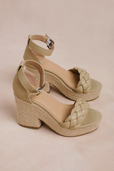 Roccio Espadrille Platform Sandals Shoes KKE Originals Latte 6
