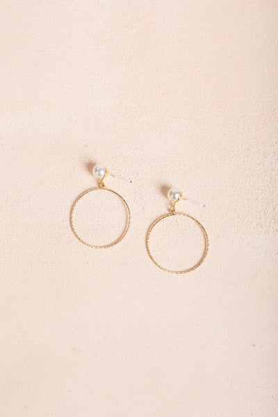 Helena Gold Circle Earrings Earrings Joia Gold