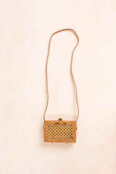 Gwyneth Rectangle Straw Rattan Bag Handbags Joia Straw