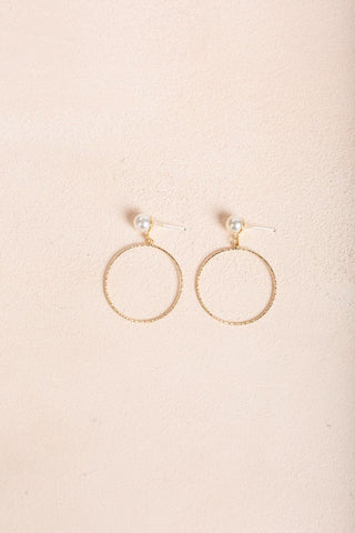 Helena Gold Circle Earrings Earrings Joia