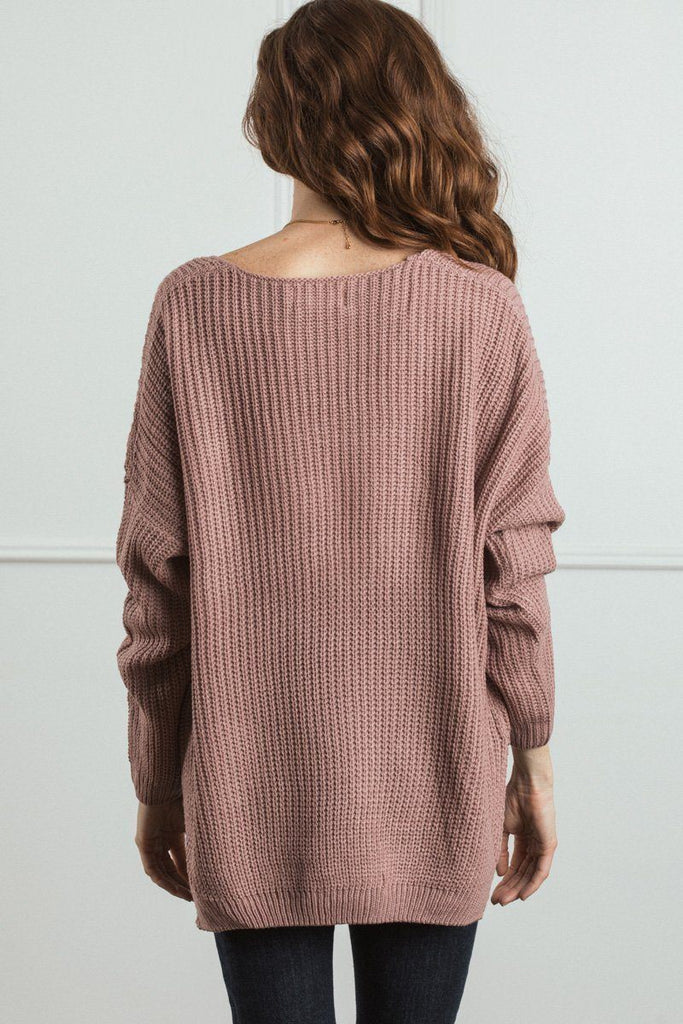 Terri Knit V-Neck Pullover Sweater Sweaters Dreamers
