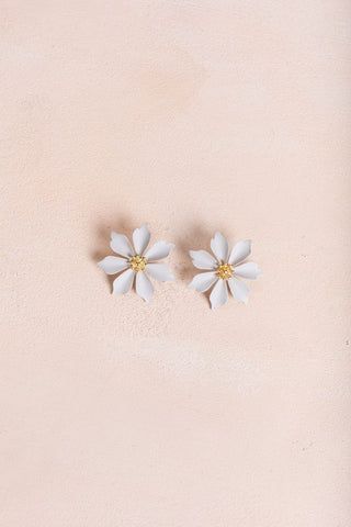 Astrid Gray Flower Earrings Earrings Joia