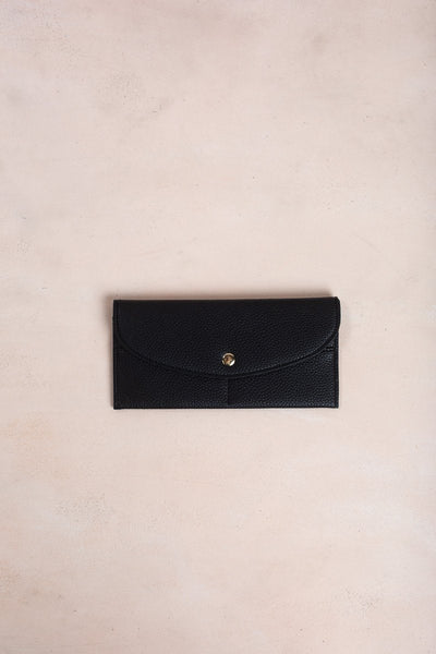 Fabienne Faux Leather Wallet Handbags MMS & Trading Black