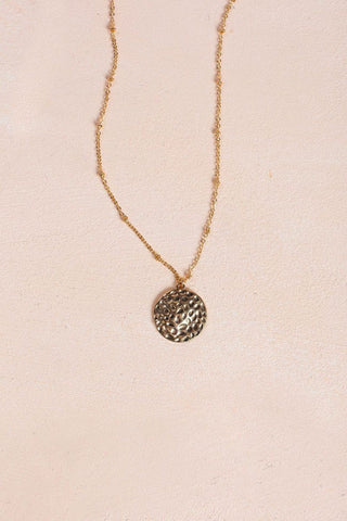 Elizabeth Gold Coin Necklace Necklaces Ana Gold
