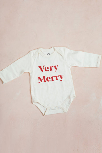 Very Merry Onesie Kids Emerson and Friends 3-6M