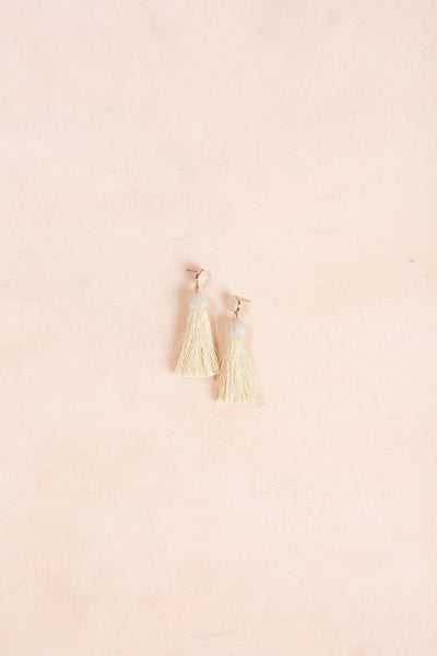 Ivy Tassel Earrings Earrings JOIA Ivory