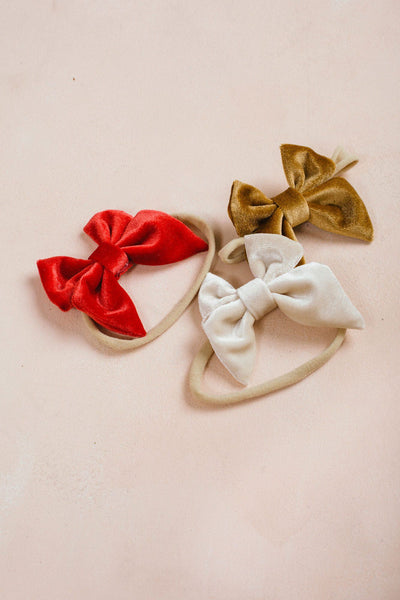 Kids Velvet Bow Headband Set Kids Emerson and Friends