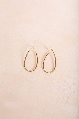 Cheryl Gold Loop Hang Earrings Earrings Ana