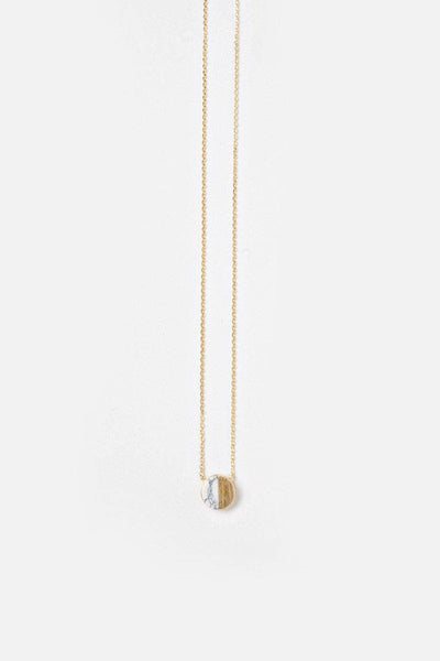 Alyssa Marble Circle Dainty Gold Necklace Necklaces Other