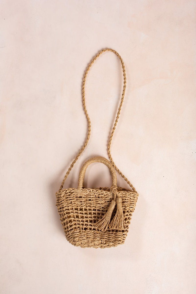 Brenna Mini Straw Handbag Handbags Fame