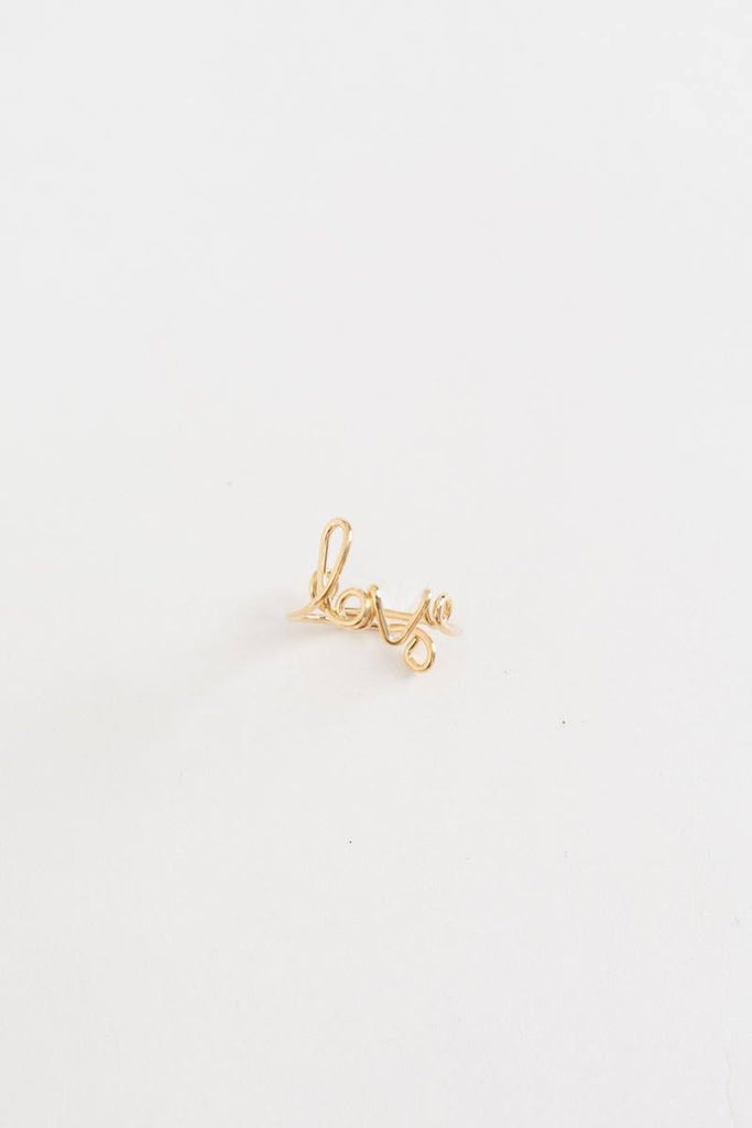 Sophie Love Script Ring Rings Ana