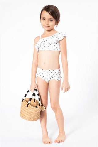 Kids Ruffle Dotted Two Piece Swimsuit Swimwear Marina West Swim