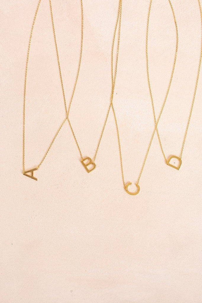 Kaye Gold Initial Necklace Necklaces FAME A