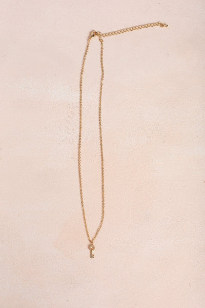 Elena Gold Key Necklace Necklaces Joia