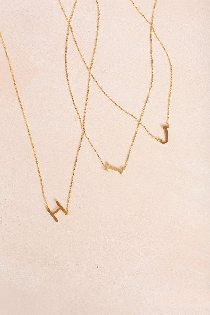 Kaye Gold Initial Necklace Necklaces FAME H