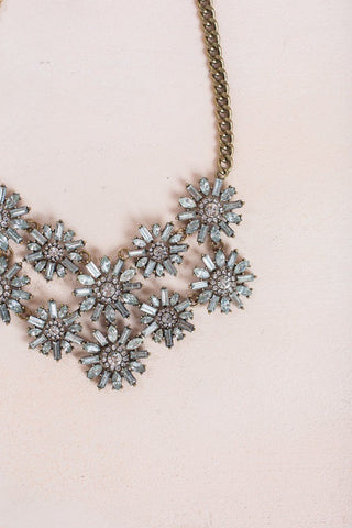 Lucy Crystal Flower Necklace