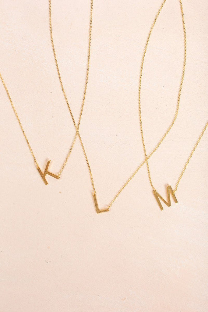 Kaye Gold Initial Necklace Necklaces FAME K