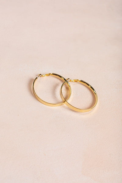 Taylor Gold Hoop Earrings Earrings Joia Gold