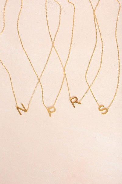 Kaye Gold Initial Necklace Necklaces FAME N