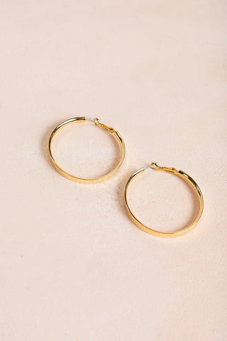 Taylor Gold Hoop Earrings Earrings Joia