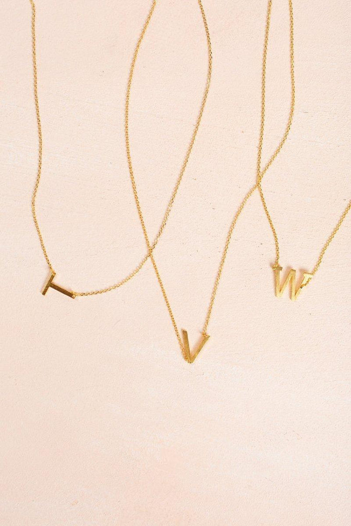 Kaye Gold Initial Necklace Necklaces FAME W