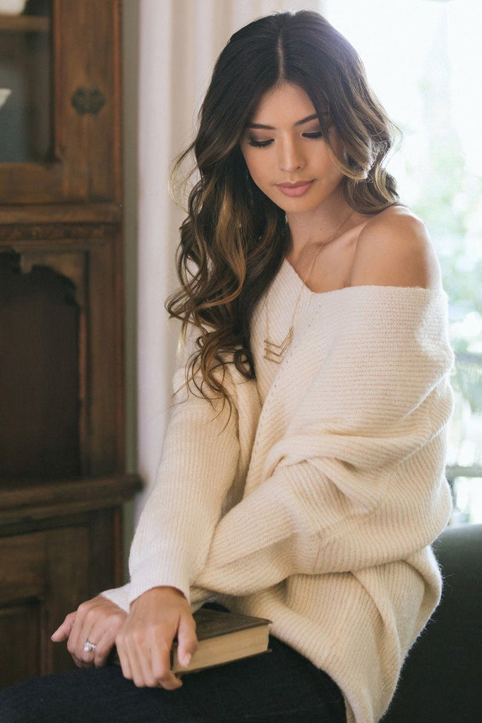 Hadley Cream Knit Pullover Sweater