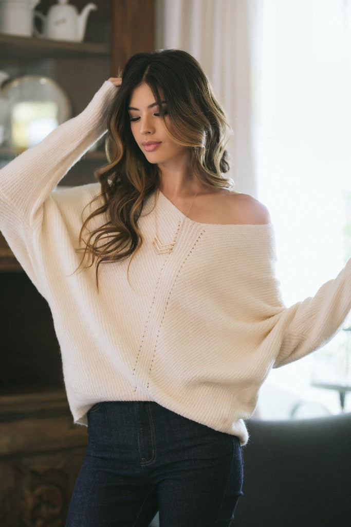 Hadley Cream Knit Pullover Sweater Sweaters Dreamers